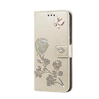 lommebok skinnveske for Samsung Galaxy M01 kjernesølv