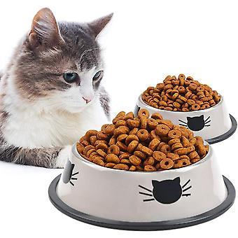 3 st Kattskål - Cat Food Bowl 15,5 X 4,5 cm