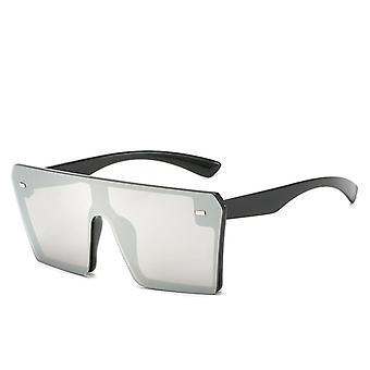 Överdimensionera Fyrkantigt Uv-skydd polariserade solglasögon Retro Flat Top Gradient Glasögon Solglasögon
