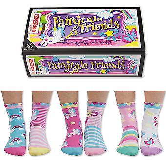 Storbritannia Oddsocks eventyrlige venner sokker gave sett For lite folk