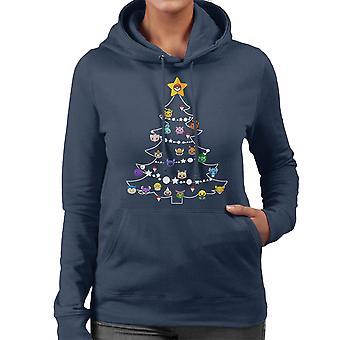 Pokemon Bulbs Christmas Tree Women's Hooded Sweatshirt