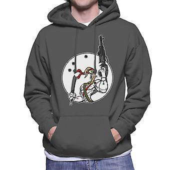 Battle Worm Earthworm Jim Men's Hooded Sweatshirt