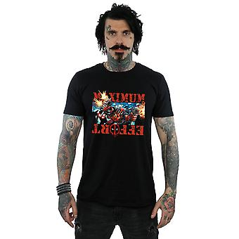 Marvel Men's Deadpool Maximum Effort T-Shirt