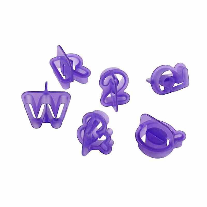 40x Cookie Cutters | Alphabet Letters | For Birthday Cakes Cookies Decoration Fondant