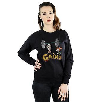 The Flintstones Women's Bam Bam Gains Distressed Sweatshirt