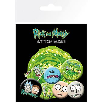 Rick och Morty tecken Badge Pack