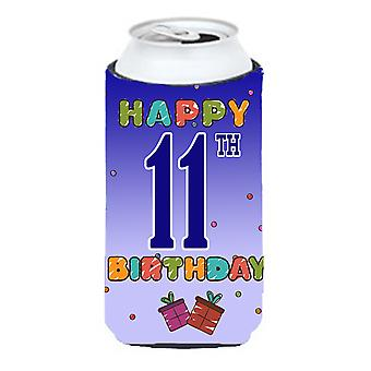Happy 11th Birthday Tall Boy Beverage Insulator Hugger