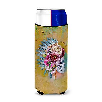 Day of the Dead Flowers Skull  Michelob Ultra Hugger for slim cans