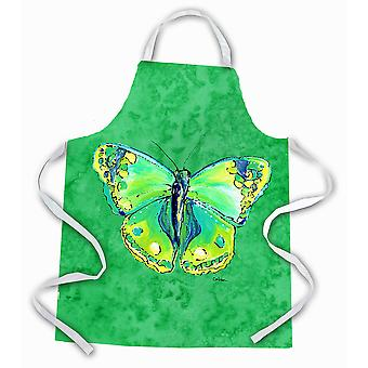 Carolines Treasures  8863APRON Butterfly Green on Green Apron