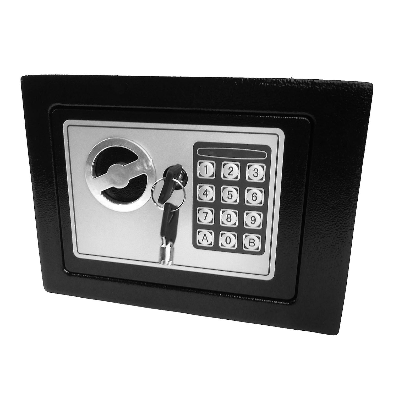 Hyfive Safebox For Home, High Security Steel small home Office Digital Electronic Safe Box with Two Keys Small Value Safe with Digital Keypad for Extra Security