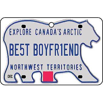 Territoires du Nord-Ouest - meilleur copain plaque d'immatriculation voiture assainisseur d'Air