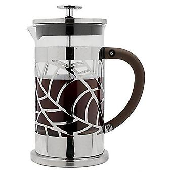 Café Ole 1L Floral Cafetiere 8 Cup Stainless Steel French Press