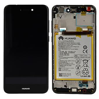 Huawei display LCD unit + Service Pack 02351CTJ black frame for P8 Lite 2017
