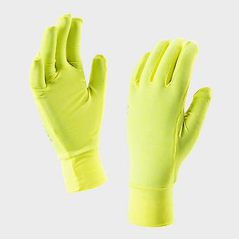 New Sealskinz Ultralight High Stretch Breathable Lite Gloves Yellow
