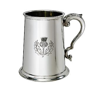Thistle Pewter Tankard - 1 pint