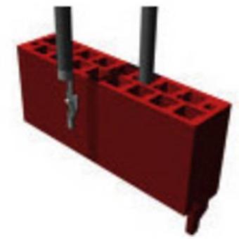 Invólucro de TE conectividade pino - número Total de Microjogo de cabo de espaçamento de pinos 6 contato: 1,27 mm 338095-6 1 computador (es)