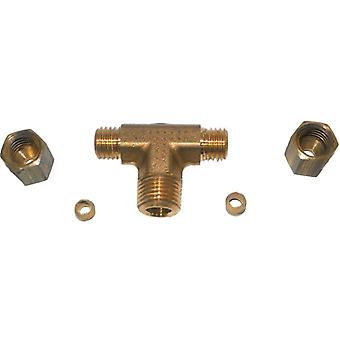 "Big A 3-172220 Brass Pipe, Tee Fitting Kit 1/8"" x 1/8"" Lot Of 5 Kits"