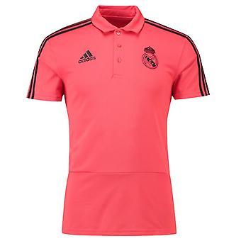 2018-2019 Ρεάλ Μαδρίτης φανέλα Polo (κόκκινο)