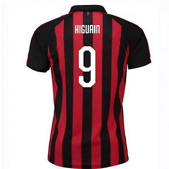 2018-2019 AC Milaan Puma thuis voetbalshirt (Higuain 9)