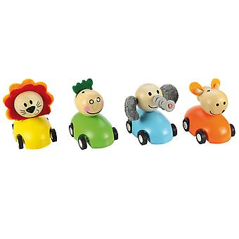 Bigjigs Toys Pull Back Racing Animal (Pack of 2)