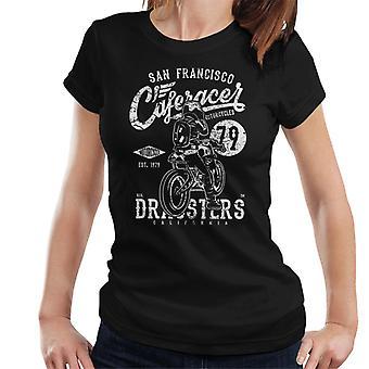 San Francisco Cafe Racer moottoripyörä Dragsters naisten t-paita