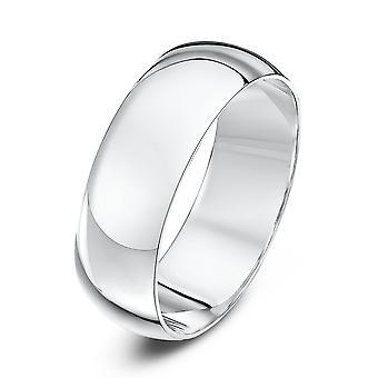 Anneaux de mariage Star 9ct or blanc Heavy D forme 7mm bague de mariage