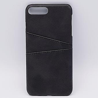 Pour l'IPhone 6 Plus-similicuir retour couverture/portefeuille-noir