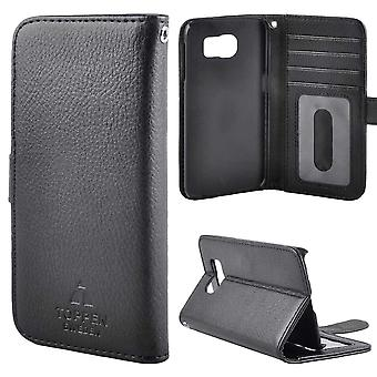 TOP left-handed wallet case Samsung Galaxy S6, Black