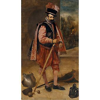 The Buffoon Don Juan de Austria, Diego Velazquez, 80x40cm