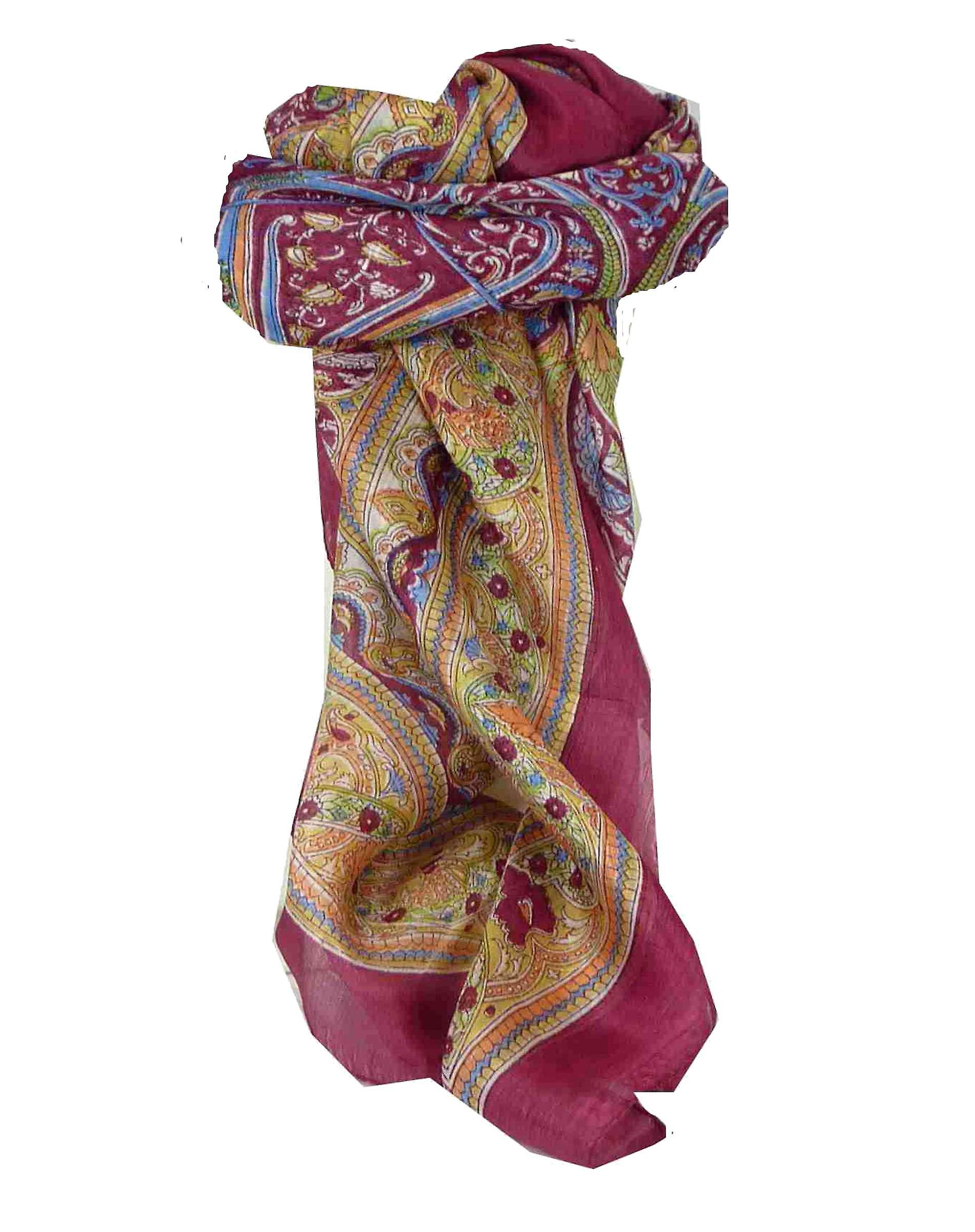Mulberry Silk Traditional Square Scarf Penner Carnation by Pashmina & Silk