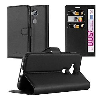 Cadorabo Hülle für Huawei G7 PLUS / G8 / GX8 Case Cover - Handyhülle mit Magnetverschluss, Standfunktion und Kartenfach – Case Cover Schutzhülle Etui Tasche Book Klapp Style