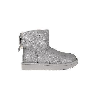 Calçados femininos inverno universal UGG Bailey de Mini arco Sparkle de 1100053SLVR