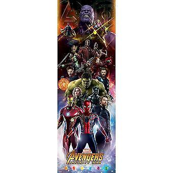 Avengers Infinity sodan oven juliste