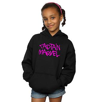 Marvel Girls kapitán Marvel Spray text Hoodie
