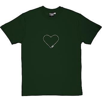 Cut-Out Heart Racing Green Men's T-Shirt