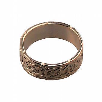 9ct Rose Gold 6mm Celtic Wedding Ring Size Q