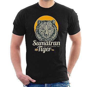 Tigre di Sumatran salvare t-shirt uomo di Habitat