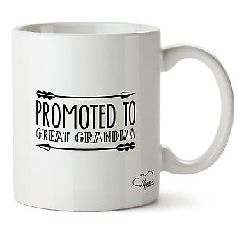 Hippowarehouse Promoted To Great Grandma Printed Mug Cup Ceramic 10oz