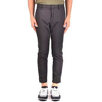 Paolo Pecora Ezbc059038 Men's Black Cotton Pants