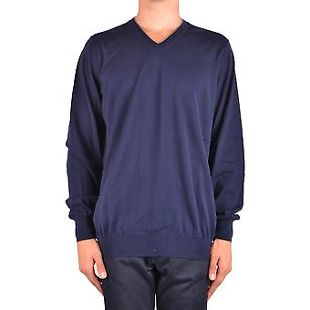 Fay Ezbc035017 Men's Blue Cotton Sweater