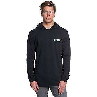 Quiksilver áspero direito capa manga comprida T-shirt em preto