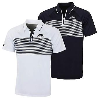 Skechers Mens Fade Stripe Golf Wicking Breathable Zip Soft Feel Polo Shirt
