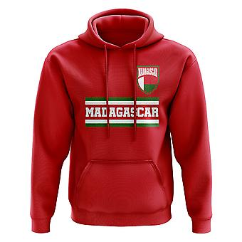 Madagascar Core Football Country felpa con cappuccio (rosso)