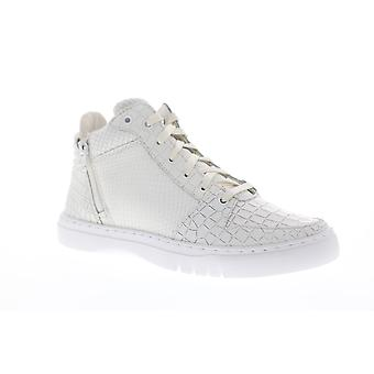 Creative Recreation Adonis Mid Mens White Leather Zipper High Top Sneakers Shoes