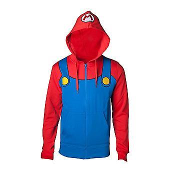 Nintendo Sweatshirt Super Mario Novelty Hoodie Multicolor Large (HD280300NTN-L)