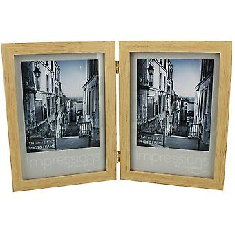 Juliana Impressions Double Wood Photo Frame 5x7 - Beige