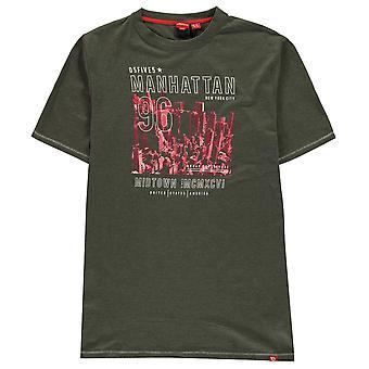 D555 Mens Perry T Shirt T-Shirt Tee Top Short Sleeve Crew Neck