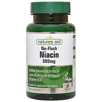 Nature's Aid Niacin (B3) 500mg (No Flush) Tablets 60 (140820)