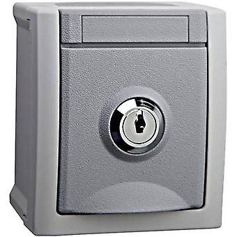 VIKO Wet room switch product range PG socket (lockable) Pacific Grey 90591045-DE