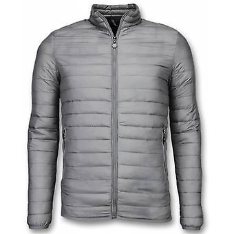 Summer Jackets-Men summercoat Short-Down jacket-Grey